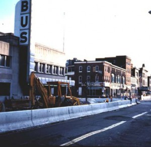 Howard St. under construction