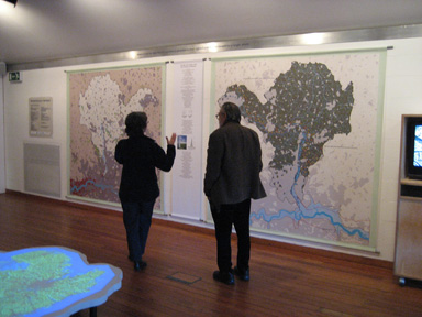 Installation view ofArchitectural Sketch in collaboration with John Bignell Architects, Bristol, Shown at Center for Contemporary Art and Natural World, 2007.